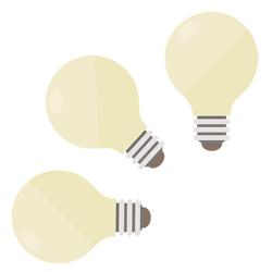 電球の選び方|口金サイズ・電球の色(電球色・温白色・昼白色)